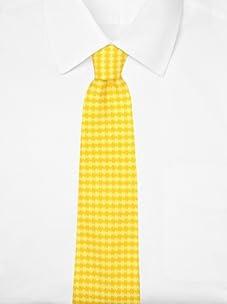 Hermès Men's Houndstooth Tie (yellow/orange)