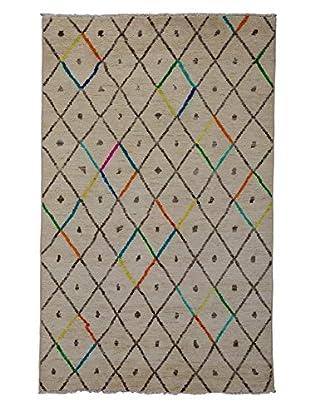 Darya Rugs Moroccan Oriental Rug, Ivory, 5' x 8' 3
