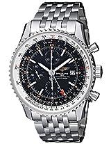 Breitling Mens BTA2432212-B726SS Navitimer World Chronograph Watch