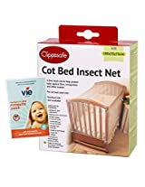 COT BED INSECT NET, includes complimentary pack of 12 vie squeeze & stick insect patches