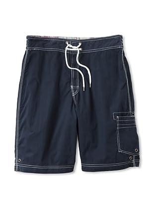 Tailor Vintage Men's Reversible Board Shorts (St. John Patchwork/Navy)