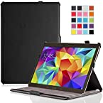 MoKo Samsung Galaxy Tab S 10.5 Case - Slim-Fit Multi-angle Folio Cover Case for Samsung Galaxy Tab S 10.5 Inch Android Tablet, BLACK (With Smart Cover Auto Wake / Sleep)