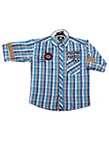 LITTLE MAN Cotton Boy's Shirt (LM5C1_16 , Blue, 16)