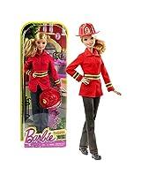Mattel Year 2015 Barbie Career Series 12 Inch Doll Barbie As Firefighter (Dhb23) With Fire Helmet