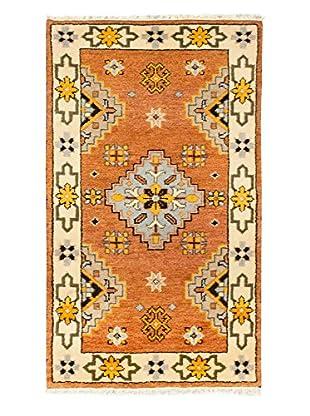 Hand-Knotted Royal Kazak Rug, Brown/Cream, 3' x 5'