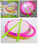 AndAlso Musical Drum with Colorful Led Lights and Drum Sticks for Kids Children