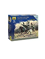 Zvezda Models Russian Dragoon Command Group - Napoleonic Wars Model Kit (1/72 Scale)