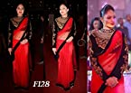 Bollywood actress red saree of Nikesha patel/f128