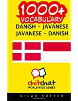 1000+ Danish - Javanese, Javanese - Danish Vocabulary