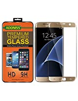Adoniss Premium Tempered Glass Screen Protector For Samsung Galaxy S7 Edge Gold