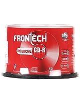 FRONtECH 700 MB BLANK CD-R (Sliver) - 50 Pcs