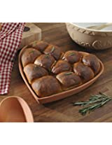 Brown Terracotta T and S Heart Baking Form (Heart Baking Form 15 Cm)