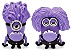 Despicable ME 2 One Plus Two Eye Evil Purple Minion 3D Toy Figure 2pc SET