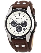 Fossil Coachman Chronograph White Dial Men's Watch - CH2890