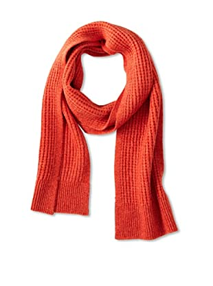 Sofia Cashmere Men's Thermal Stitch Scarf (Orange)