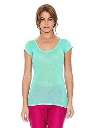 American Vintage Camiseta Lisa (Verde)