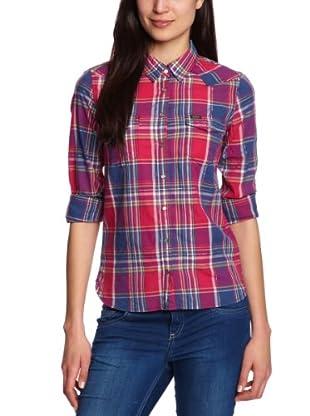 Lee Camisa Slim (Azul / Rojo)