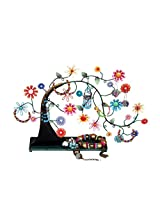 Bali Mantra Tree of Life on Tray Jewelry Holder (Multicolor)