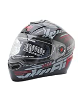 Steelbird SBA-1 Speed Glossy Black & Red Full Face Helmet