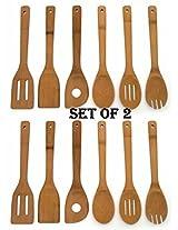 Lipper 826 Bamboo Set of Tools in Mesh Bag (12 Pack)