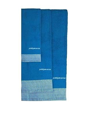 Javier Larráinzar Juego Toallas 3 Piezas Versalles (Azul)