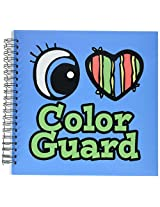 3dRose db1059782 Bright Eye Heart I Love Color Guard-Memory Book, 12 by 12-Inch