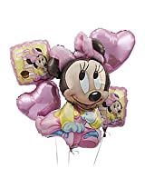 My Party Suppliers Minnie Mouse 1st Birthday Balloon Bouquet / Birthday Balloon Decoration