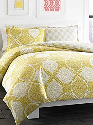 City Scene Reversible Wonderlust Duvet/Sham Set