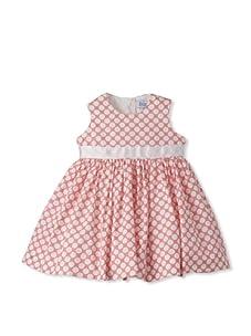 Baby CZ Girl's Sleeveless Belted Dress (Sorbet/White)