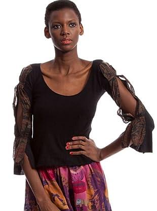 Custo Camiseta Ciara gravure (Negro)