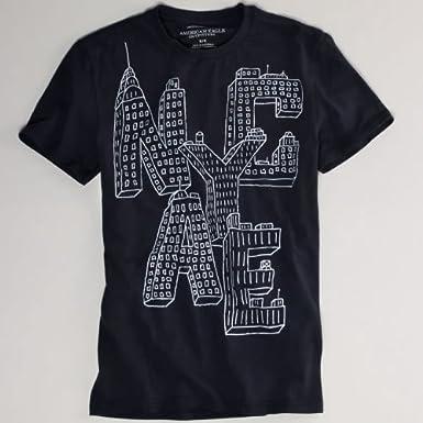 (アメリカンイーグル) AMERICAN EAGLE Tシャツ(半袖) AE NYC GRAPHIC T