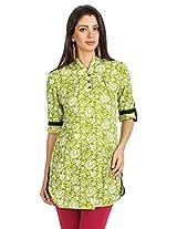 Shop Avenue Women's Cotton Regular Fit Kurti (WGS07115, Green, XX-Large)
