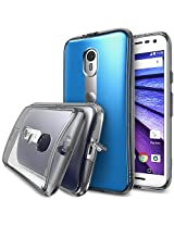 Moto G 3rd Gen 2015 Case - Ringke FUSION [Smoke Black] ***All New Dust Free Cap & Active Touch Technology***[FREE Bonus HD Screen Protector Included] Crystal Clear Shock Absorption TPU Bumper Drop Protection Premium Clear Har