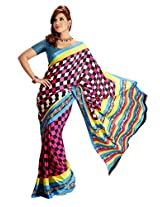 Vardhaman Goodwill Chiffon Saree (Vgs388 _Multi-Coloured)