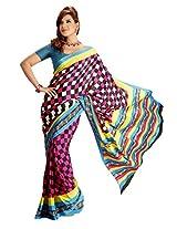 Vardhaman Goodwill Chiffon Saree (Vgs388 _Multi-Coloured)