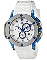 Oniss Paris Men's ON612N-RB/BU-WT/WT BOLD COLLECTION Analog Display Swiss Quartz White Watch