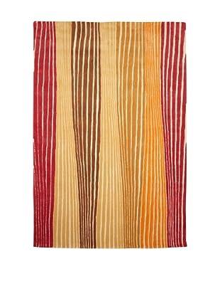 XpressWeave Riley Rhythms Rug (Red/Saffron/Curry/Yellow)