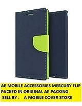 AE MERCURY GOOSPERY FANCY WALLET DAIRY FLIP CASE COVER FOR SAMSUNG GALAXY J1 ACE BLUE GREEN