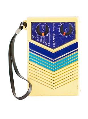 Vintage Sanyo Radio, Yellow/Blue