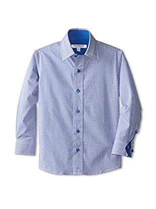 Isaac Mizrahi Boy's Multi-Diamonds Woven Shirt
