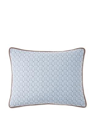 Circle Ring Pillow Sham (Blue/Brown)
