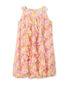 Hype Girls Transparent Dot Dress (Fuschia)