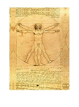 Legendarte Leinwandbild L'Uomo Vitruviano