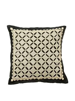 Mela Artisans Serenity In Midnight  Cushion Cover (Black/White)