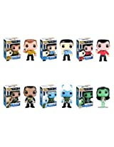 Funko STAR TREK 6pc 3.75 POP VINYL FIGURE SET with Cpt Kirk - Spock - Scotty - Andorian - Orion Slave Girl & Klingon