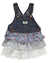 OshKosh B'gosh Triple Tiered Jumper (Baby) - Denim-9 Months