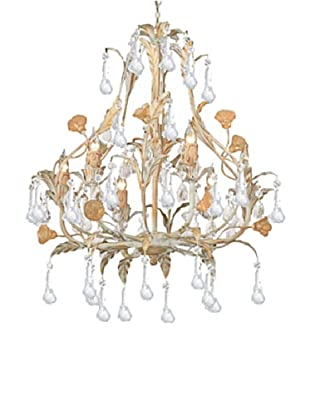Gold Coast Lighting Champagne Crystal Chandelier, Champagne