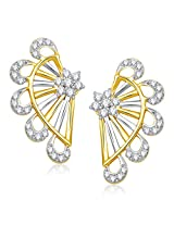 VK Jewels Classy Gold and Rhodium Plated Alloy Stud Earrings for Women & Girls -ER1341G [VKER1341G]