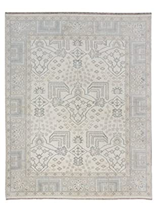 eCarpet Gallery One-of-a-Kind Hand-Knotted Royal Ushak Rug, Cream, 8' x 9' 10