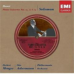 ソロモン独奏 モーツァルトPf協奏曲15、23、24番 商品写真